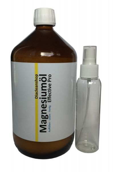 Magnesium Oil Effective Pro 1000ml with extra spray bottle